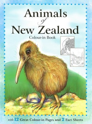 Animals of New Zealand Colour-in Book
