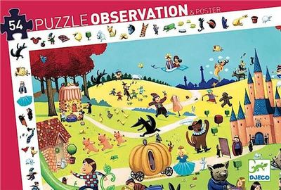 Fairytale Observation Poster & Puzzle 54pc