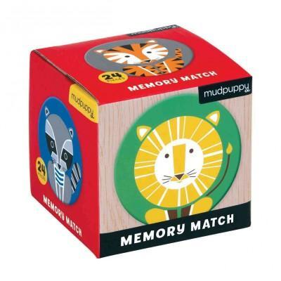 Geometric Animals Mini Memory Match Game