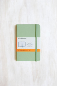 Moleskine - Classic Hardcover Notebook Pocket Ruled Willow Green