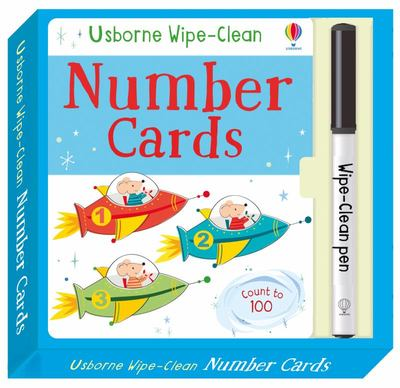 Wipe-Clean Number Cards Flash Cards Count to 100 - Usborne