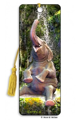 Elephant Bath 3D Bookmark