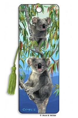 Koalas 3D Bookmark