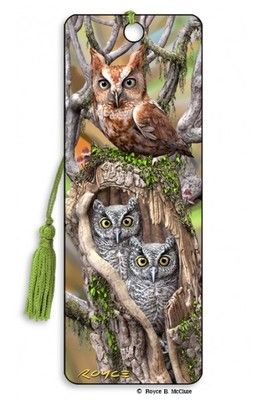 Owls 3D Bookmark