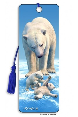 Polar Bears 3D Bookmark