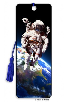 Space Walk 3D Bookmark