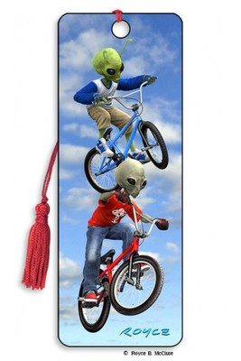 GREY VS GREEN BMX 3D Bookmark