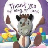 Thank You For Being My Friend (Finger Puppet Book)