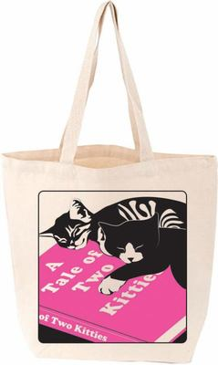 A Tale of Two Kitties Cat Tote