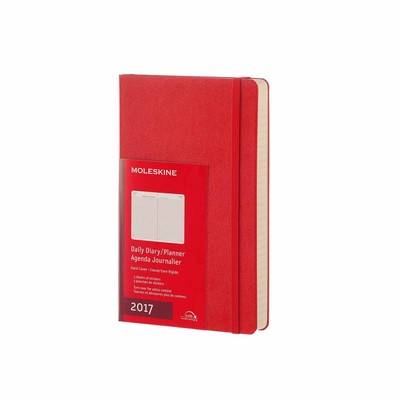 Diary 2017 Daily Red Large Softcover Moleskine