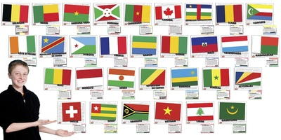 Flags of French speaking countries poster set