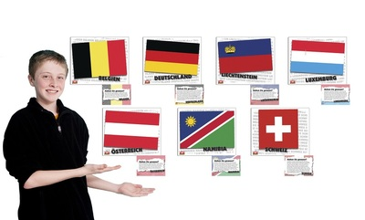 Flags of German speaking countries - poster set