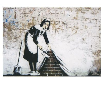 Magnet Behind the Curtain Banksy