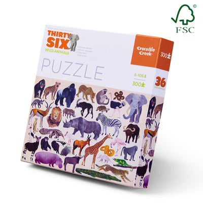 Thirty Six Wild Animals Puzzle (300pc)