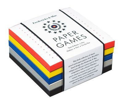Fredericks Mae Paper Games: Tic Tac Toe - Hedron - Dots and Boxes - Nim - Hex