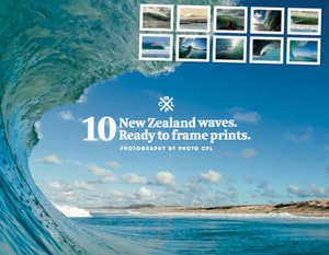 The Big Little Beach Book Posters: 10 New Zealand Waves
