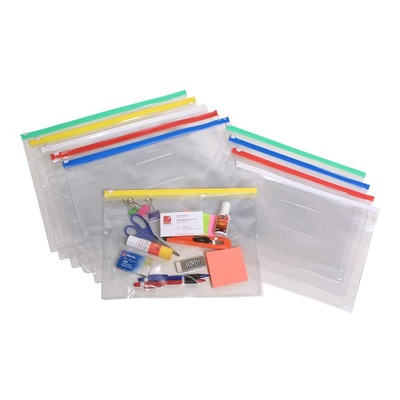 Clear Case with Coloured Zip 335x245mm (9008099)