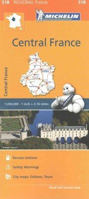 Michelin Regional Maps Central France