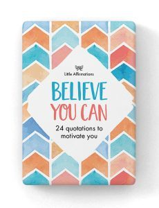DBY Believe You Can 24 Affirmation Cards