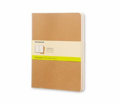 Cahier Plain Kraft XLarge Notebook pk3 - Moleskine