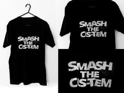 Tshirt - Beyond The Two - Smash - White with TransFlag - Size S/12