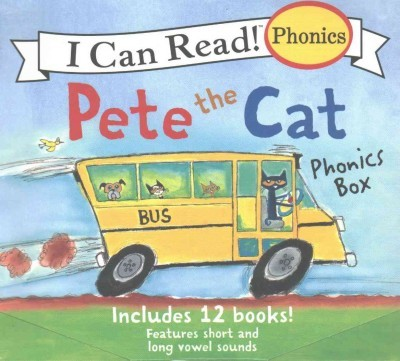 Pete the Cat Phonics BoxIncludes 12 Mini-Books Featuring Short and Long Vowel Sounds