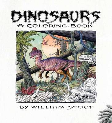Dinosaurs a coloring book
