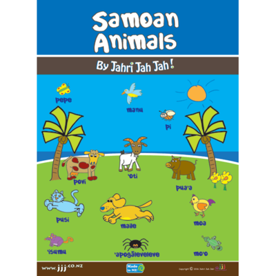 Large samoan animals poster