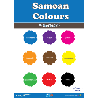 Large samoan colours poster