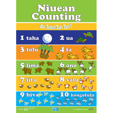 Large niuean counting poster