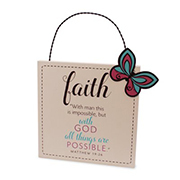 Faith Plaque Matthew 19:26