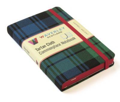 Campbell Ancient: Waverley Genuine Tartan Cloth Commonplace Notebook (9cm x 14cm)