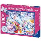 Ravensburger Amazing Unicorns Glitter Puzzle 100pc