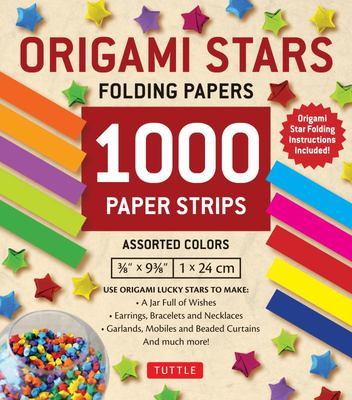 Origami Stars Papers 1000 Paper Strips in Assorted Colors : 10 Colors Û 1000 Sheets Û Easy Instructions for Origami Lucky Stars