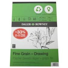 Daler-Rowney Eco Fine Grain Drawing Pad 120gsm A3
