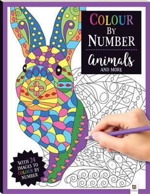 Large colour by number animals