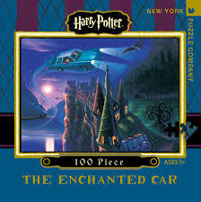 Enchanted Car Harry Potter 100 Piece Travel Jigsaw Puzzle