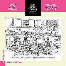 Peanut Butter Sandwich - Travel Jigsaw Puzzle (New Yorker 100-piece)