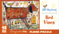Jill Mayberg Red Vines 48 piece floor puzzle