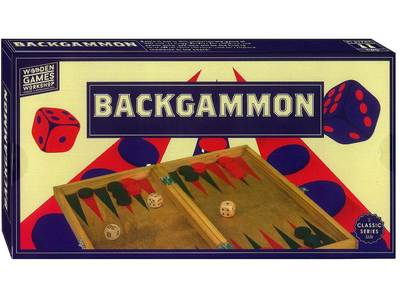 Wooden Backgammon Set games workshop