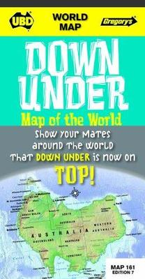 Down Under World Map 161 7th Folded