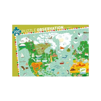 Around the World Observation Puzzle & Book 200pc