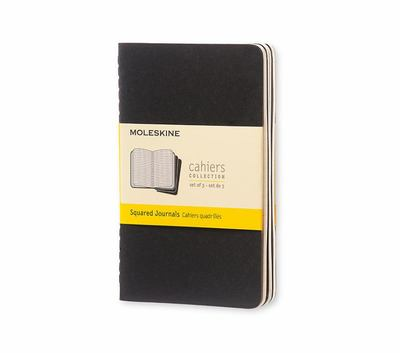 Cahier Squared Black Pocket Notebook pk3 - Moleskine
