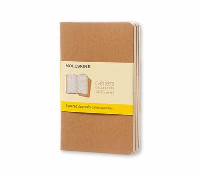 Cahier Squared Kraft Pocket Notebook pk3 - Moleskine