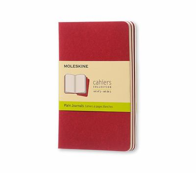 Moleskine - Cahier Plain Red Pocket pk3