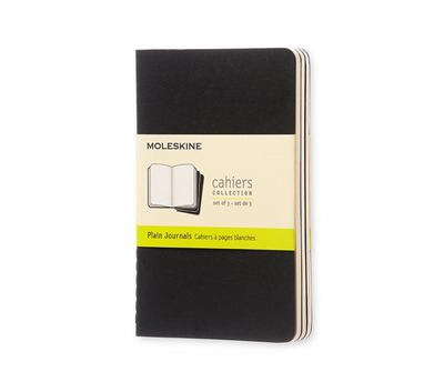 Moleskine Cahier Plain Black Pocket Notebook pk3