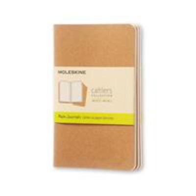 Cahier Plain Kraft Pocket Notebook pk3 - Moleskine