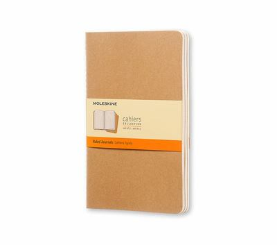 Cahier Ruled Kraft Large Notebook pk3 - Moleskine