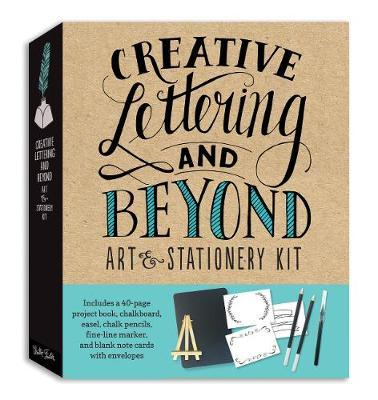 Creative Lettering & Beyond Art and Stationery Kit: Includes a 40-Page Project Book, Chalkboard, Easel, Chalk Pencils, Fine-Line Marker, and Blank Note Cards with Envelopes