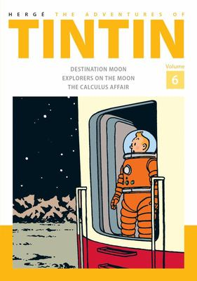 The Adventures of Tintin (Bind-Up #6: Destination Moon, Explorers of the Moon, The Calculus Affair)